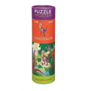 Puzzle 100 p & Poster Dinosaurs