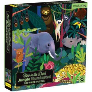 Glow in Dark Puzzle Jungle Illuminated 500 pcs