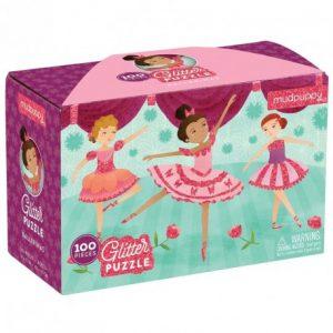100 PC Glitter Puzzle/Ballerinas